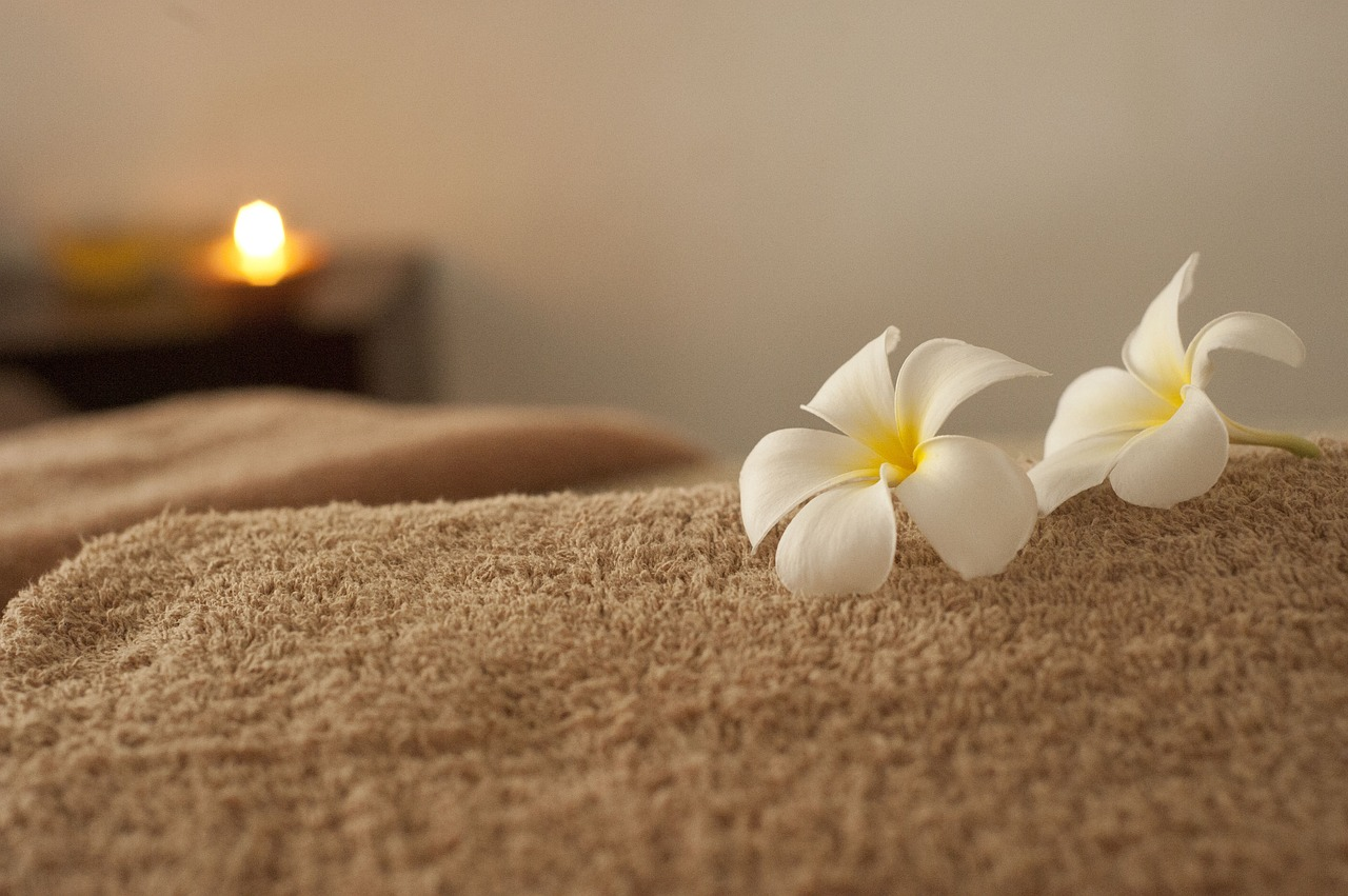 Photo of a towel with flowers